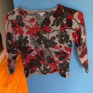 Garnet Hill 100% Wool Cardigan sweater size S